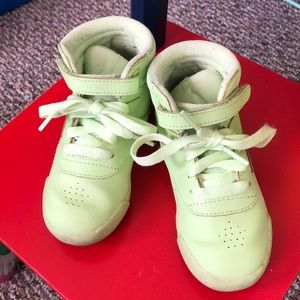 Reebok high top sneakers- kids